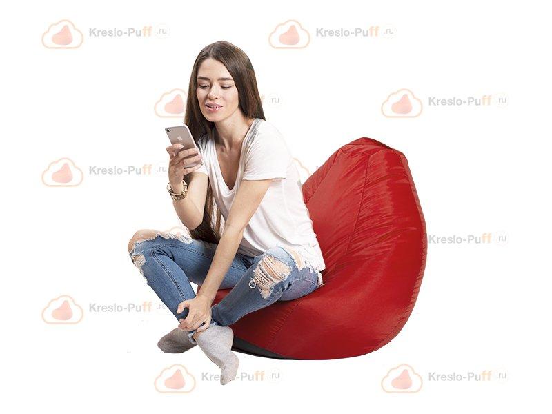 Кресло-груша MINI Oxford красный 1