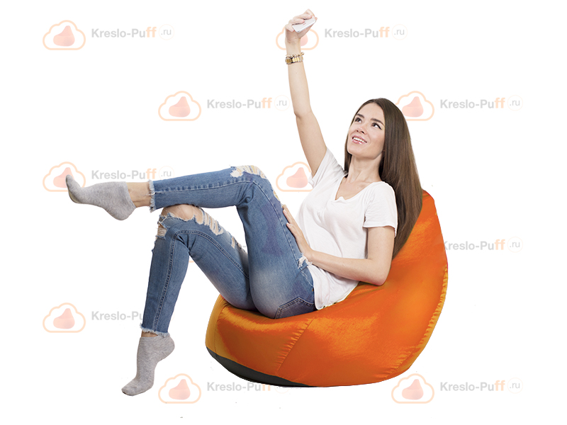 Кресло-груша MINI Oxford оранжевый 1