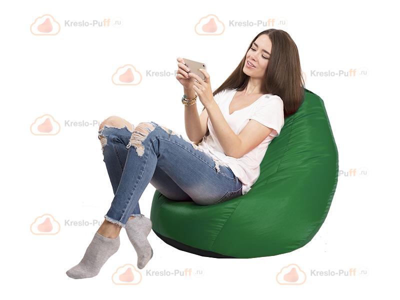 Кресло-груша MINI Oxford зеленый 1