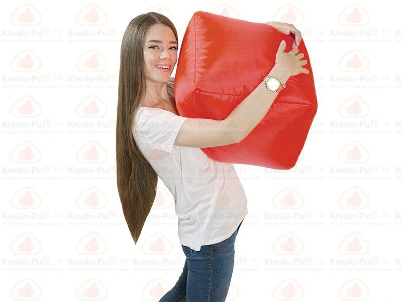 Кресло-мешок Пуфик кубик красный 1