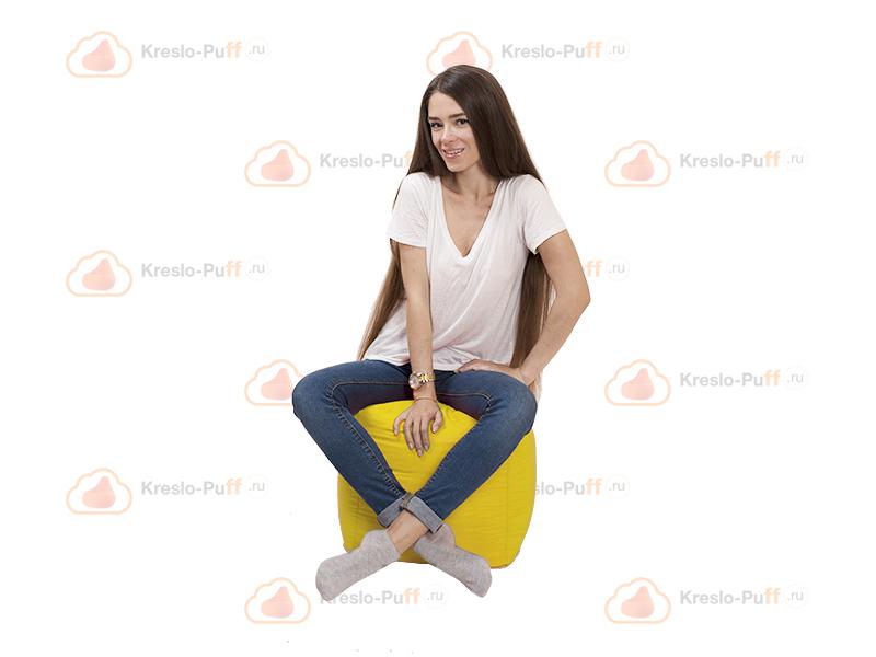 Кресло-мешок Пуфик кубик желтый 1