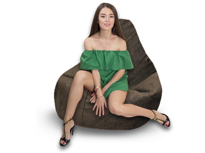 Кресло-груша Comfort Hippo коричневый 1