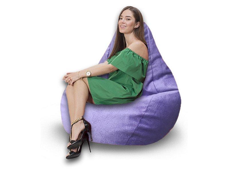Кресло-груша Comfort Hippo сиреневый 1