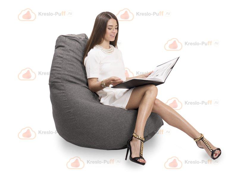 Кресло-груша Comfort DENDY серый 1