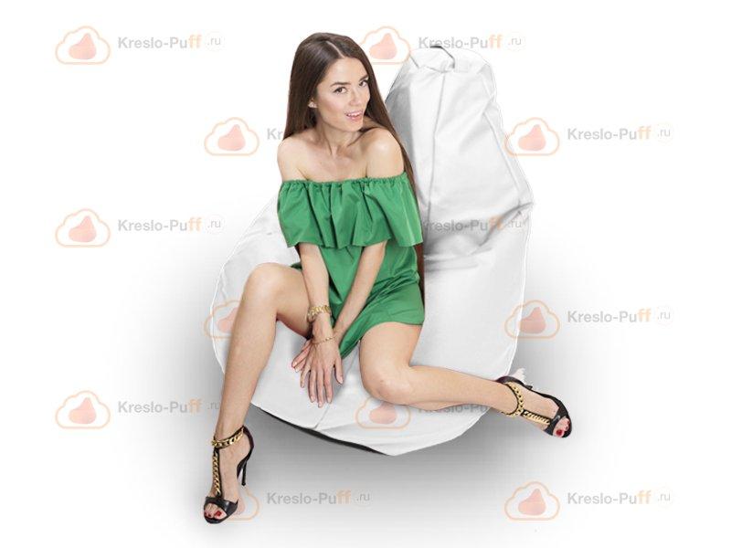 Кресло-груша MAXI Экокожа белый 1