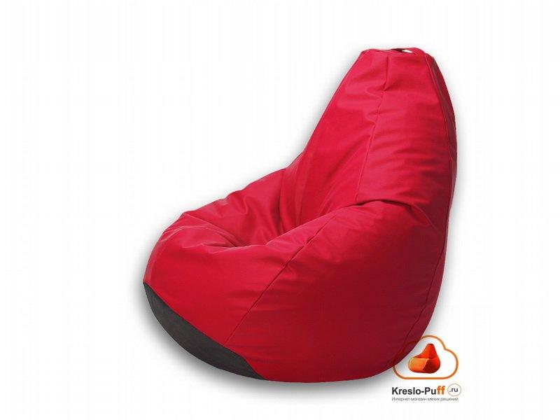Кресло-груша MAXI Экокожа красный