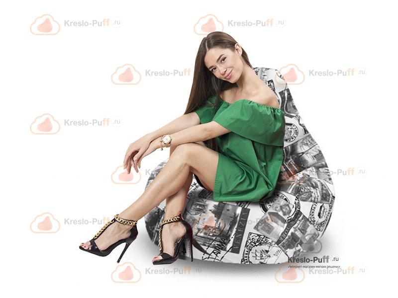 Кресло-груша MAXI Postcard серый 1