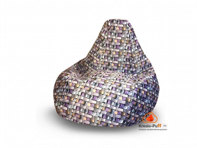 Кресло-груша MAXI Tissage серый