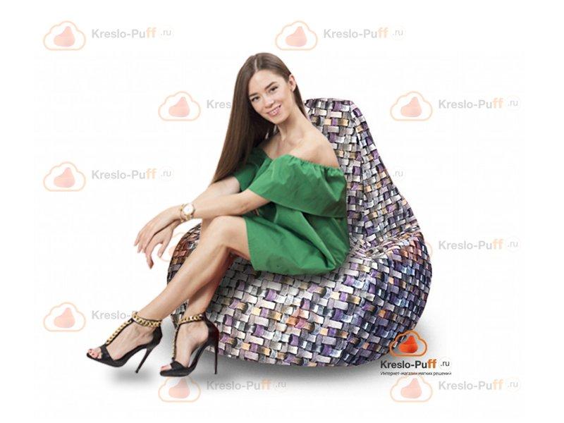 Кресло-груша MAXI Tissage серый 1