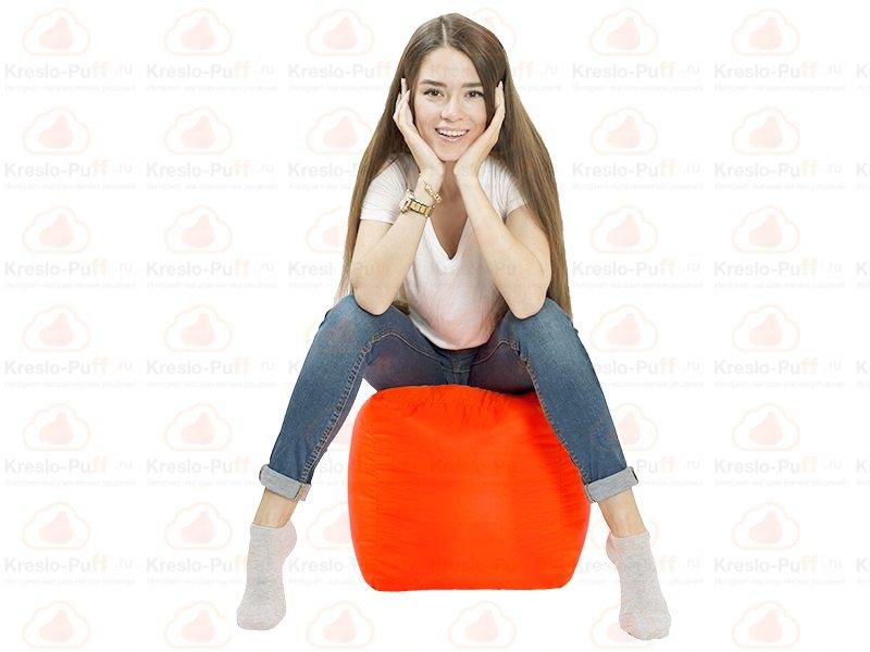 Кресло-мешок Пуфик кубик оранжевый 1