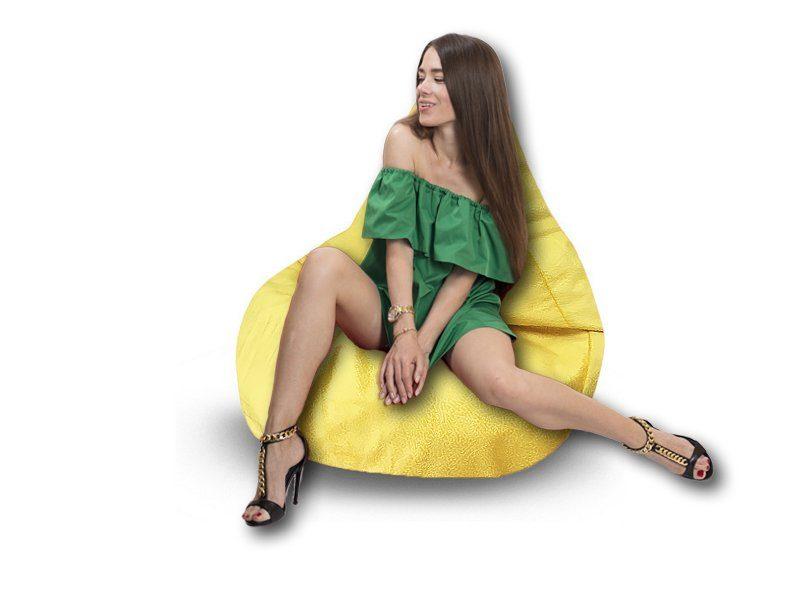 Кресло-груша Comfort Hippo желтый 2