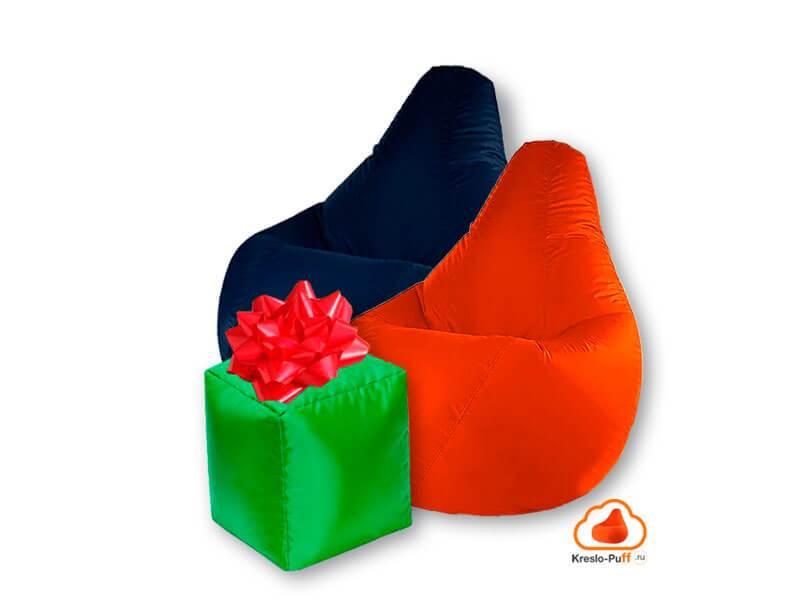 2 Кресла-груши Super Oxford пуфик подарок