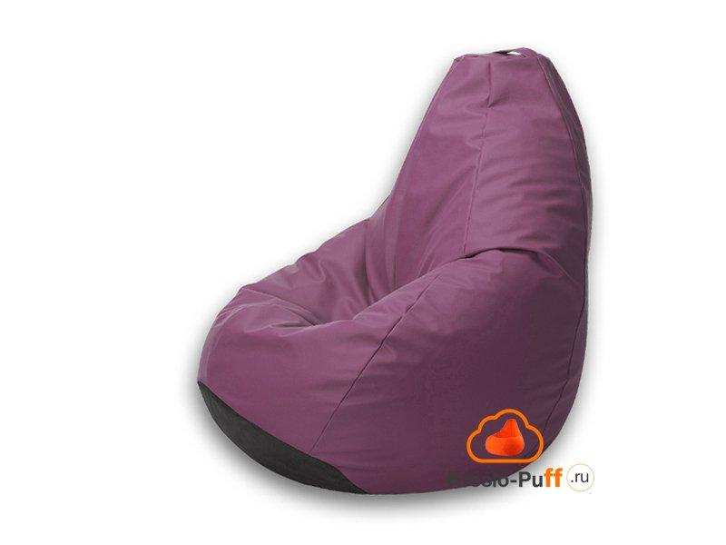 Кресло-груша Maxi Экокожа - фиолетовый