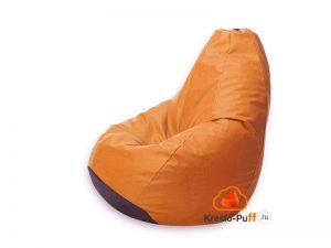 Кресло-груша Maxi Экокожа - оранжевый
