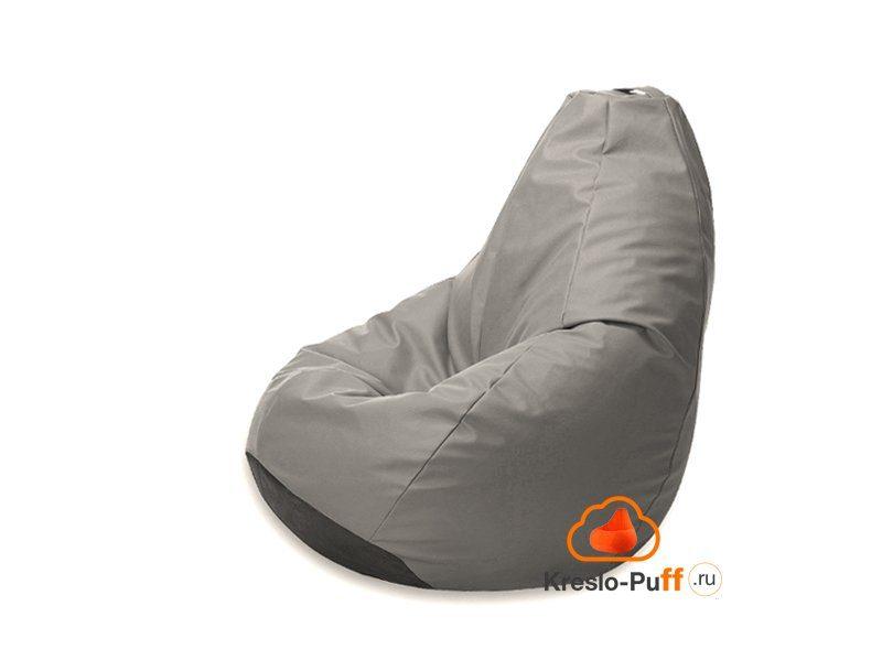 Кресло-груша Maxi Экокожа - серый