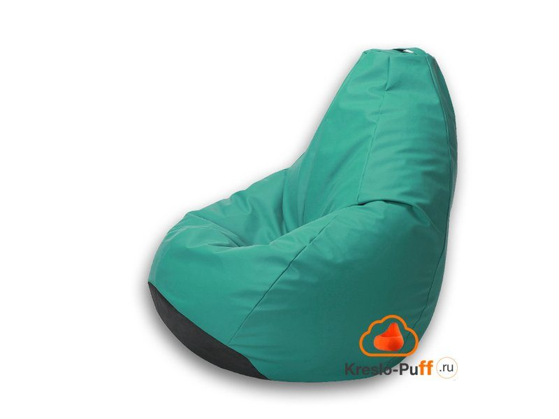 Кресло-груша Maxi Экокожа - светло-зеленый